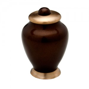 "Simplicity Keepsake Small Urn (Brown) - ""Made with Love"""