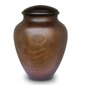 High Quality Spanish Wooden Cremation Ashes Urn - Monterey Pine - Contemporary Style