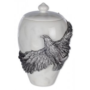 Eagle's Flight - Pewter Urn - Size Medium