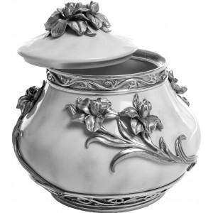 Flowers - Pewter Urn - Size Medium