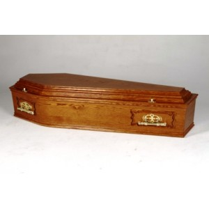 Traditional Raised Lid Coffin - Nationwide Coffins