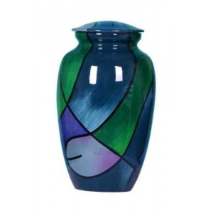 Premium Quality Hand Cast Aluminium Adult Cremation Urn (Quest Design)