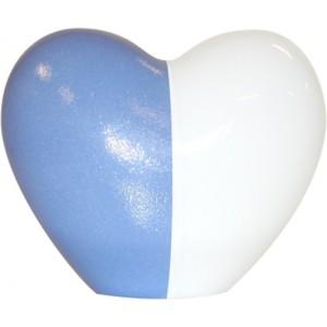 Infant Porcelain Ceur Urn (Blue / White)