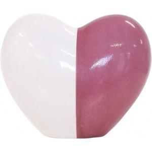 Infant Porcelain Ceur Urn (White / Pink)