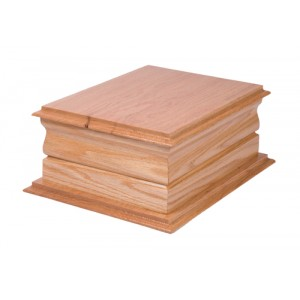 Superior Moulded Double Oak Cremation Ashes Casket - FREE Engraving when you buy this product.