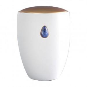 Sodalite Blue Gem Ceramic Urn