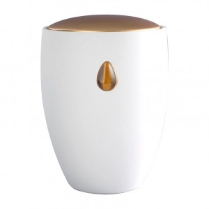 Tiger Eye Gem - Ceramic Cremation Ashes Urn