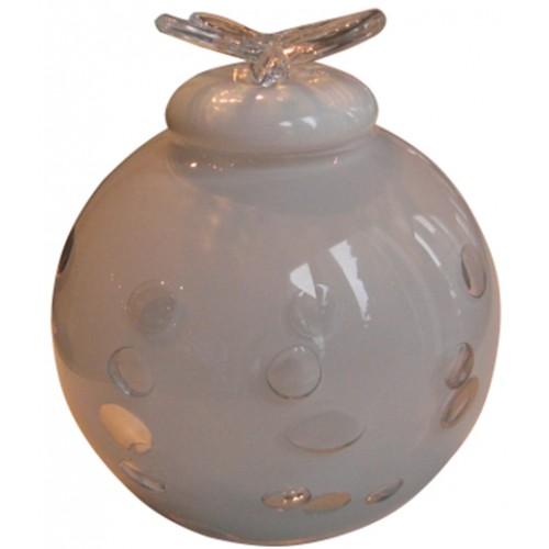 Infant Dali Glass Urn (White)