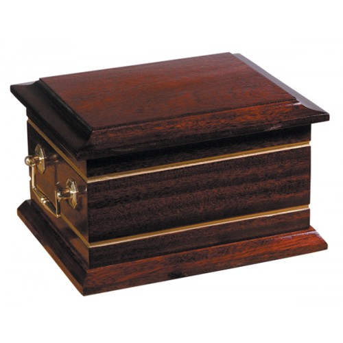 Bury Wooden Cremation Ashes Casket - FREE Engraving when you buy this product.