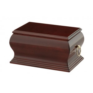 Lincoln Mahogany Cremation Ashes Casket - FREE Engraving when you buy this product.
