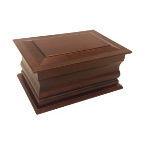 Superior Moulded Solid Mahogany Cremation Ashes Casket - FREE Engraving when you buy this product.