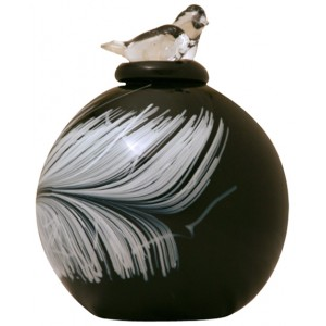 Plume Glass Cremation Ashes Urn