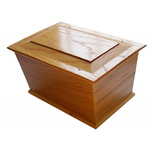 Severndale Oak Cremation Ashes Casket - FREE Engraving when you buy this product.