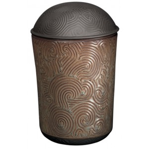 Zen Brown Porcelain Cremation Ashes Urn
