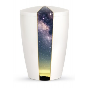 Heaven's Edition Biodegradable Cremation Ashes Funeral Urn – Starry Night / Pearly Iridescent Surface
