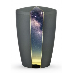 Heaven's Edition Biodegradable Cremation Ashes Funeral Urn – Starry Night / Anthracite Surface