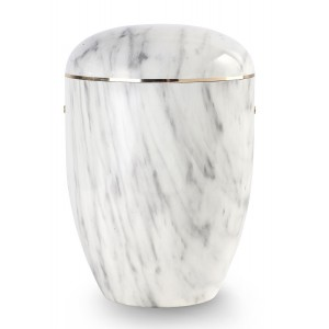 Onyx Edition Biodegradable Cremation Ashes Funeral Urn – Carrera White Effect