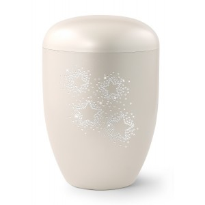 Karat Edition Biodegradable Cremation Ashes Funeral Urn – Mother of Pearl, Starry Crystal