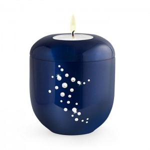 Shooting Star (Swarovski) Candle Holder Keepsake - Royal Blue