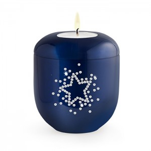 Starry Sky (Swarovski) Candle Holder Keepsake – Royal Blue