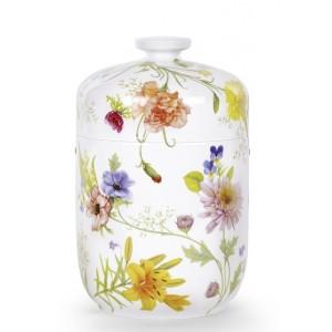 "Exclusive Porcelain Cremation Ashes Urn – Mo Van De Camp Edition – Belvedere – ""Flowers"""