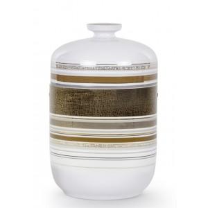 "Exclusive Porcelain Cremation Ashes Urn – Mo Van De Camp Edition – Belvedere – ""Gold Structure"""