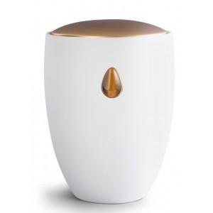 Ceramic Cremation Ashes Urn – Remember Me Gemstone Edition – Silky Lustre Tiger Eye Teardrop
