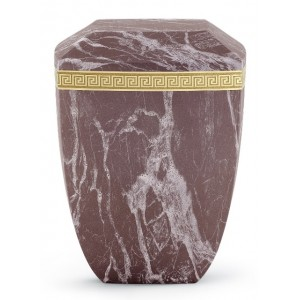 Marmor Edition Biodegradable Cremation Ashes Urn – Italian Marble Effect – Red