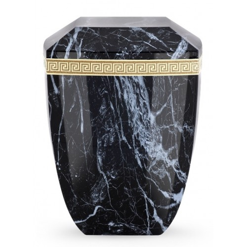 Marmor Edition Biodegradable Cremation Ashes Urn – Italian Marble Effect - Ebony Black