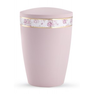 Pastel Edition Biodegradable Cremation Ashes Funeral Urn – Rose with Rose Border