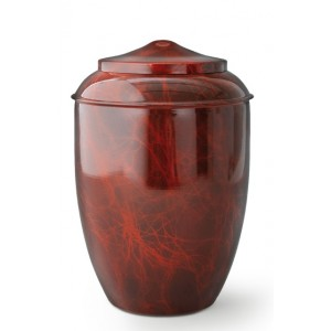 Metal Cremation Ashes Urn – Animal / Pet Dog / Cat – Rootwood Appearance – Opaquely Coated