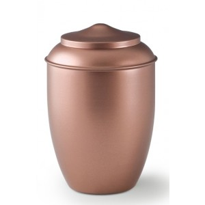 Metal Cremation Ashes Urn – Animal / Pet Dog / Cat – Copper Appearance – Opaquely Coated
