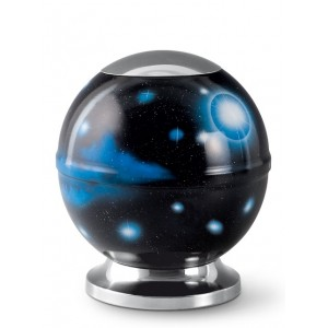 Metal Cremation Ashes Urn – Animal / Pet Dog / Cat – Heavenly Sphere – Airbrush Technology