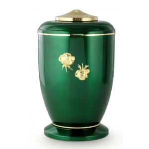 Steel Urn (Roman Rose Decoration – High Gloss Emerald Green)