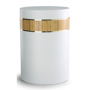 Mediterranean Edition Wood Line Cremation Ashes Urn - PINE