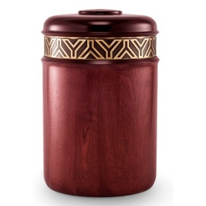 Mahogany (Frieze Relief Band Design) Cremation Ashes Urn – (Always in My Heart)