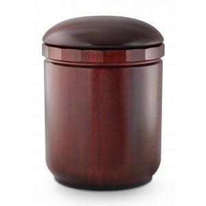 Natural Turned Mahogany Cremation Ashes Urn (Intricately Handmade)