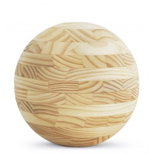 Special Edition Sphere Pine Cremation Ashes Urn (Cross Glued, Oiled Finish) Light Ball Shaped