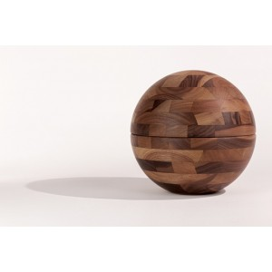 Fine Walnut Cremation Ashes Urn (Cross Glued, Oiled Finish) Special Edition Amphora
