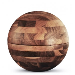 Special Edition Sphere Walnut Cremation Ashes Urn (Cross Glued, Oiled Finish)