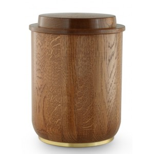 Rustic Oak Cremation Ashes Urn (Natural Hardwood)