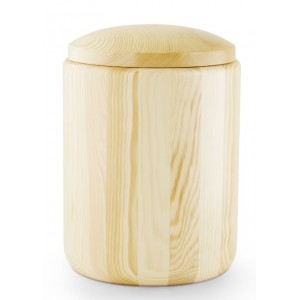 Natural Pine with Waxed Surface Cremation Ashes Urn – (UK's Finest Funeral Products)