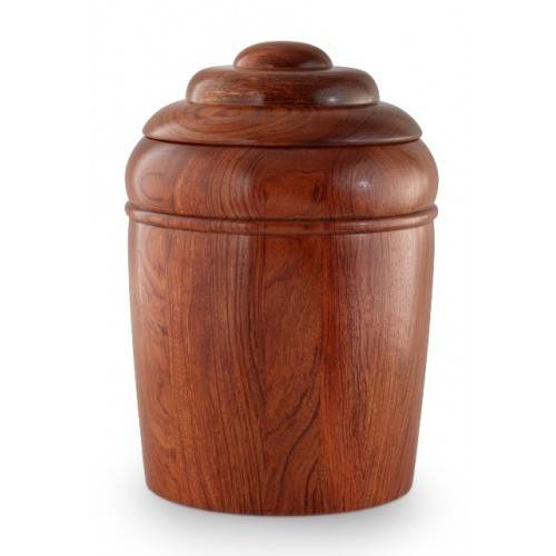 Rosewood Turned (High Gloss) Cremation Ashes Urn (Made with Love)