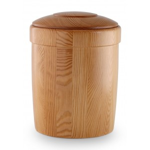 Natural Pine with Honey Coloured Dressing Cremation Ashes Urn – (Decorative Lid)