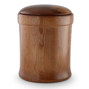 Natural Pine with Walnut Coloured Dressing Cremation Ashes Urn – (Unique, High Quality & Affordable)