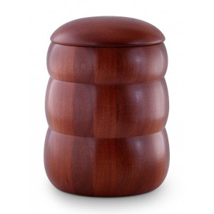Mahogany Natural Beehive Shape Cremation Ashes Urn