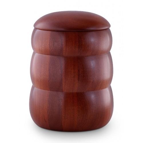 Mahogany Natural Beehive Shape Cremation Ashes Urn