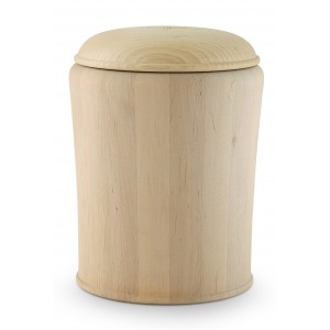 Alder (Waxed a Natural Appearance) Cremation Ashes Urn