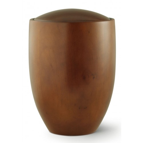 Seville Edition Cremation Ashes Urn – Hand Turned Alder Wood (Teak Hue)