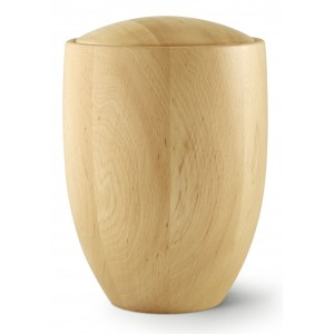 Seville Edition Cremation Ashes Urn – Hand Turned Alder Wood (Natural Hue)